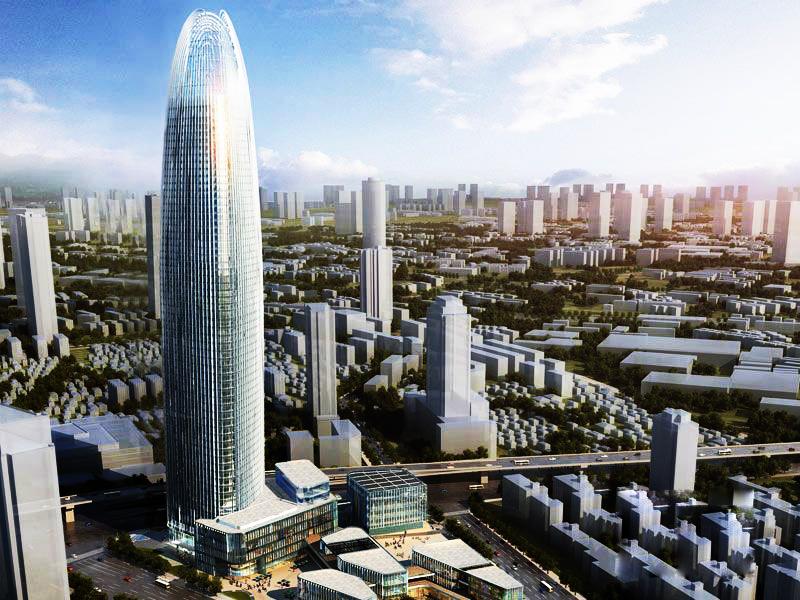 济南绿地普利中心-济南第一高楼