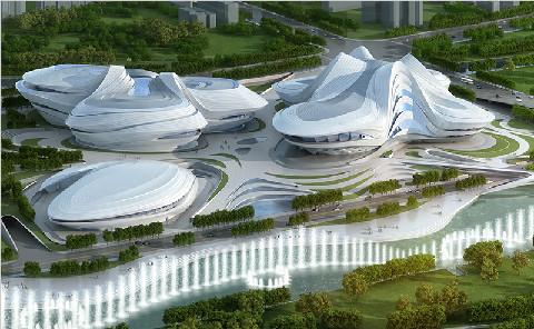 """中国面积最大的不规则曲面幕墙 ——""""长沙梅溪湖国际文化艺术中心"""""""