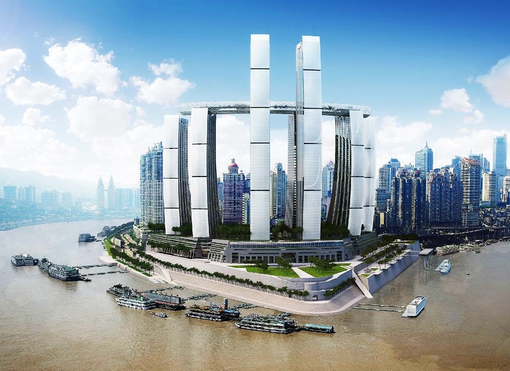 江河幕墙西南大区喜中重庆来福士广场项目